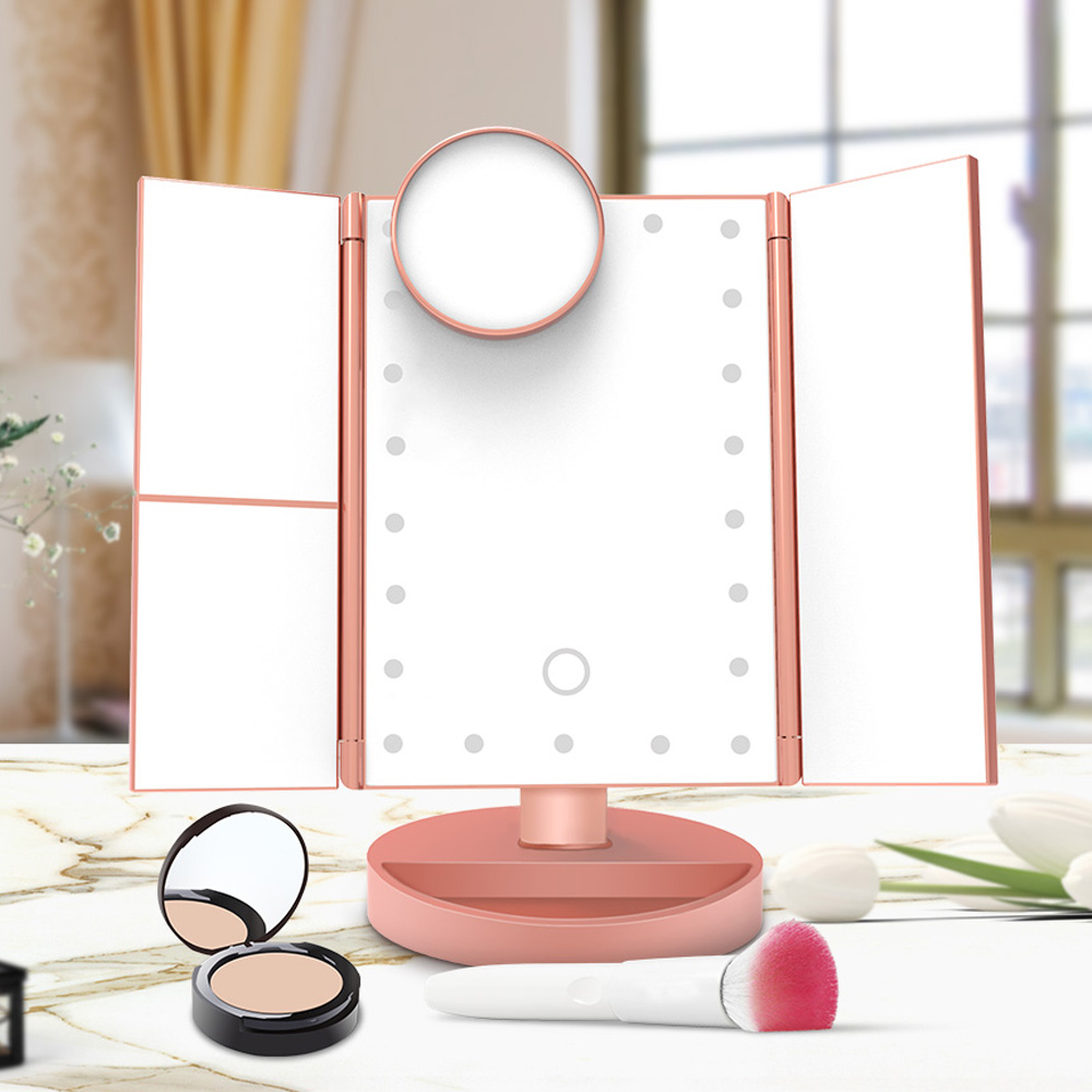 Тройное LED зеркало для макияжа MAGIC MAKEUP MIRROR